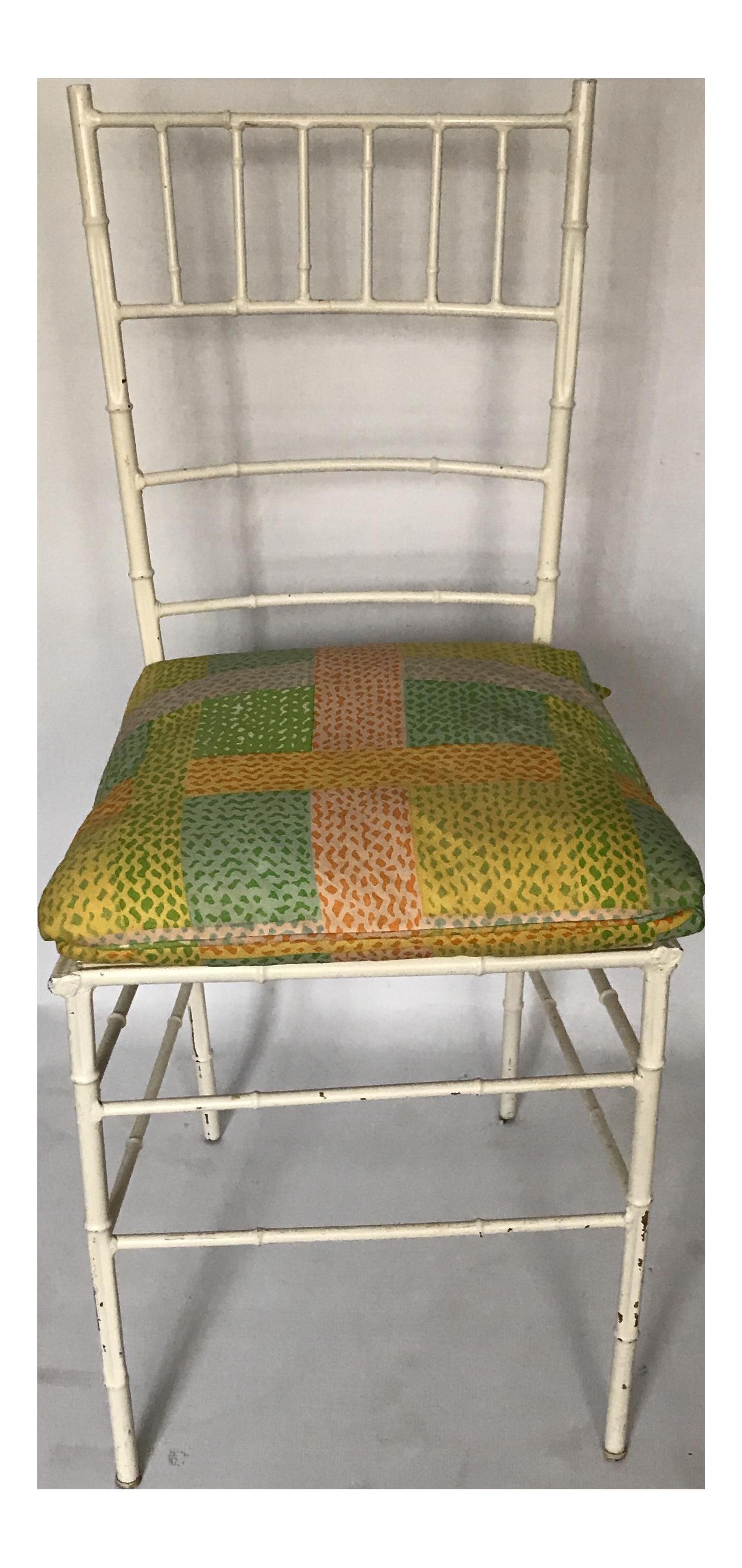 Vintage Faux Bamboo Metal Chiavari Chair - Image 1 of 11  sc 1 st  Chairish & Vintage Faux Bamboo Metal Chiavari Chair | Chairish