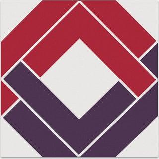 """Shadow Box"" Bold Purple & Pink Supergraphic"