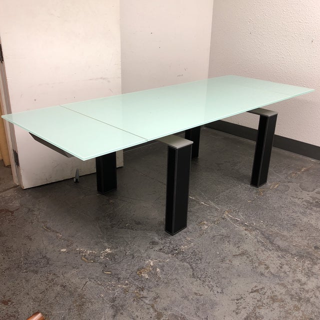 Bontempi Casa Mistrak Glass Extendable Dining Table For Sale - Image 5 of 10