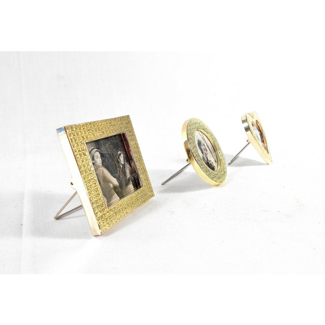 Crystal Three Mini Diamond Photo Frames by Milano Series For Sale - Image 7 of 9