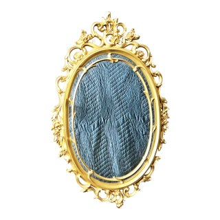 Vintage Gold Ornate Wall Mirror by Syroco
