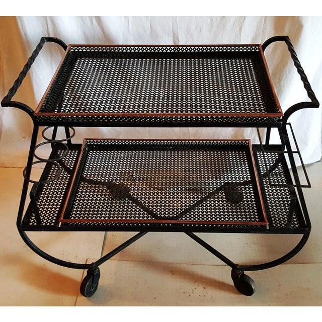 Circa 1950 Mathieu Mategot Bar Cart - Image 2 of 5