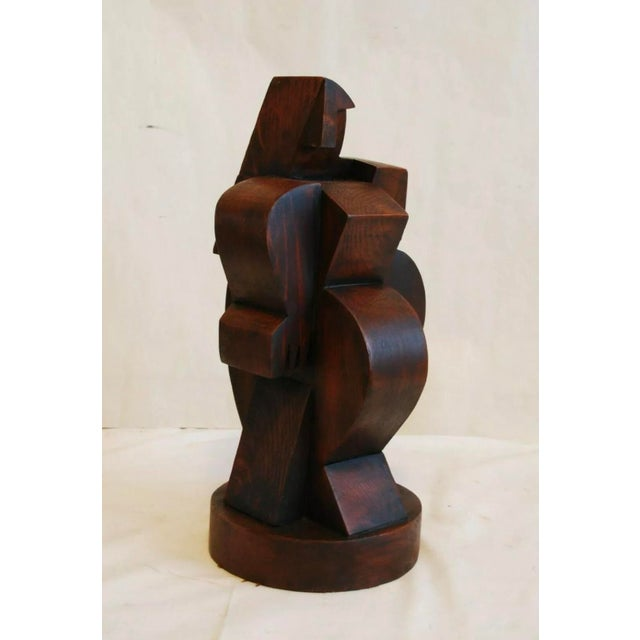 Early 20th Century French Cubist Sculpture Signed on Bottom Atelier De Boulogne For Sale - Image 5 of 7