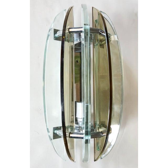 Fabio Ltd Italian Beveled Sconces by Veca - a Pair For Sale - Image 4 of 7