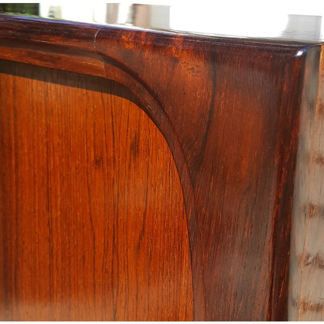 Brown 1960s Danish Modern Rosewood Credenza/Sideboard For Sale - Image 8 of 12