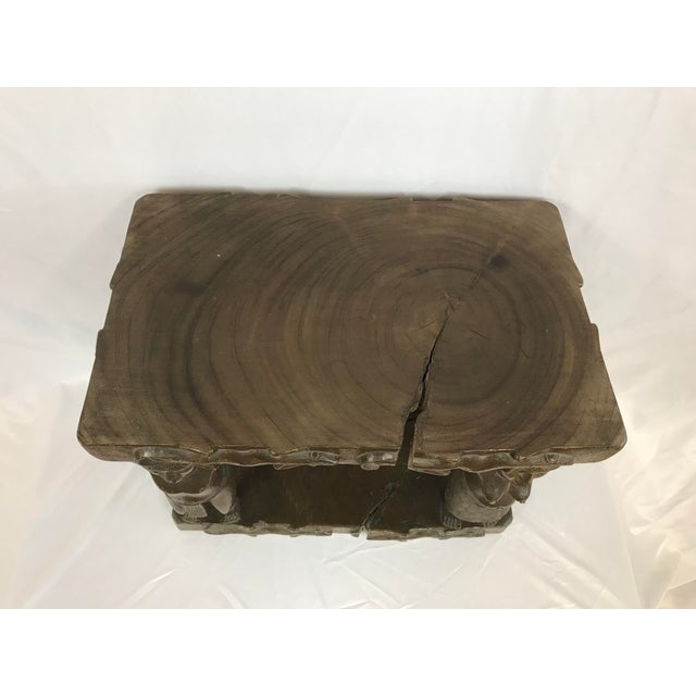 20th Century Tribal Single Log Carved Stool For Sale - Image 4 of 9