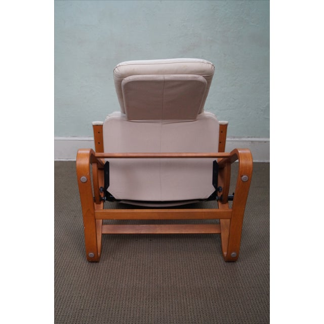 Nepsco Inc Leather Bent Wood Recliner For Sale - Image 10 of 10