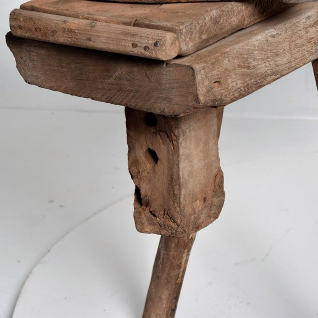 Antique Spanish Colonial Decorative Woodworking Mezquite Table For Sale - Image 10 of 11