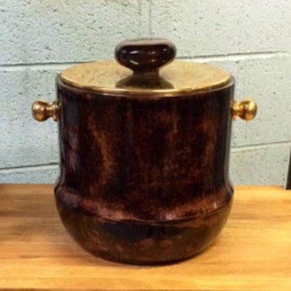 Italian Mid-Century Aldo Tura Goatskin Ice Bucket - Image 2 of 6