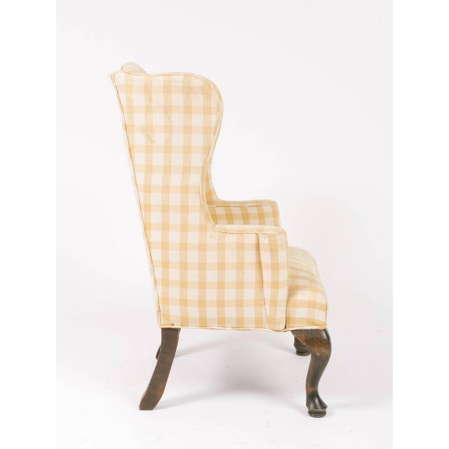 1970s Vintage Children's Wing Chair For Sale In New York - Image 6 of 8