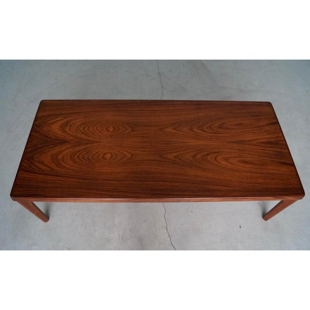Mid-Century Danish Modern Rosewood Coffee Table For Sale - Image 11 of 12