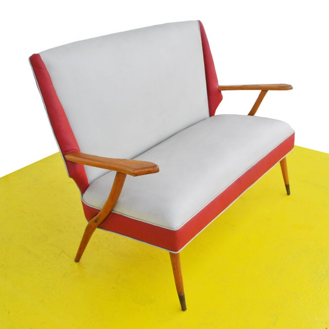 1960s Italian Style Settee For Sale - Image 5 of 11