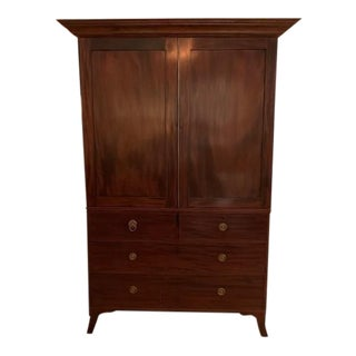 19th Century Wooden Linen Press For Sale