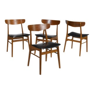 1970s Danish Style Dining Chairs - Set of 4 For Sale