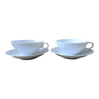 Kaiser Vintage Porcelain Tea Cup and Saucer - Service for 2 For Sale