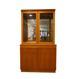 Superior Skovby Mid-Century Modern Teak Hutch For Sale