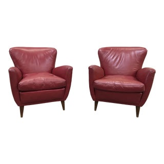 Pair of Italian Mid-Century Modern Arm Chairs For Sale