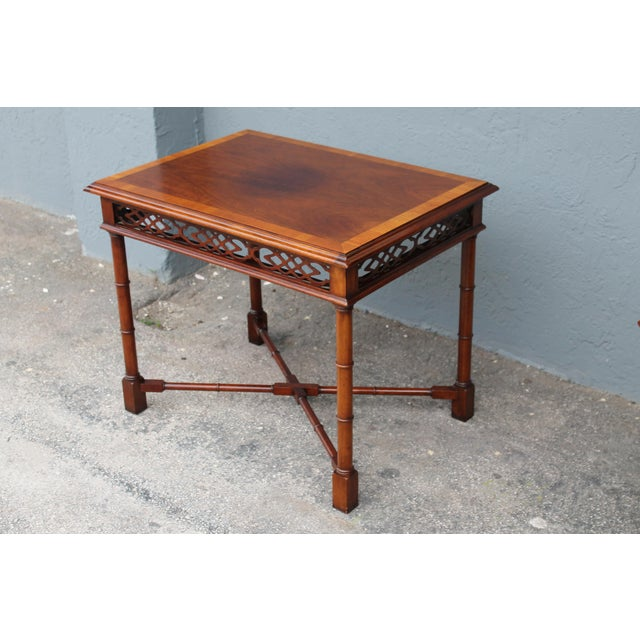 1970's Traditional Carved Wood Side Tables - A Pair - Image 7 of 11