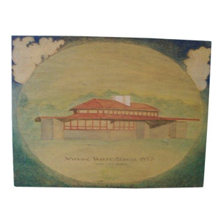 Frank Lloyd Wright Original Woodburning Plaque For Sale