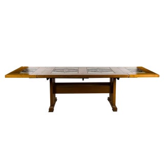 1960s Danish Modern Poul Cadovius Teak Tile Top Dining Table For Sale