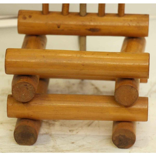 Orange Bamboo Lamps - a Pair For Sale - Image 8 of 13