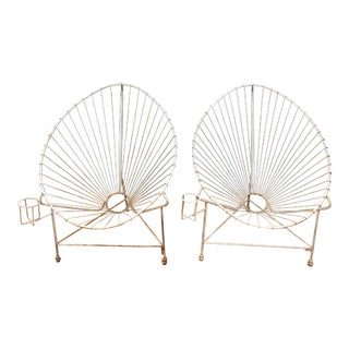 Modernist Wire Acapulco Chairs - A Pair For Sale