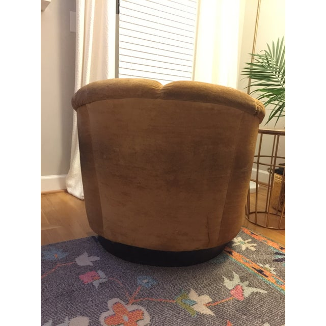 Mid-Century Baughman Style Plinth Base Swivel Chair For Sale - Image 9 of 10