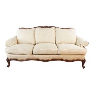 Hancock & Moore Beige Upholstered Sofa For Sale