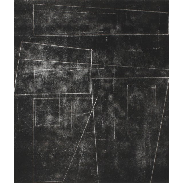 """Rob Delamater Rob Delamater """"The Machine Age Ii"""" Black and White Monotype Print, 2014 2014 For Sale - Image 4 of 4"""