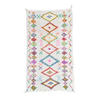 Vintage Moroccan Azilal Rug - 4′8″ × 8′