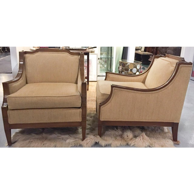 Mid-Century Regency, Transitional Style Club Chairs - a Pair - Image 3 of 8