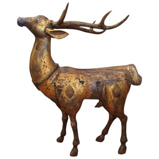 Indonesian Giltwood Deer Figurine