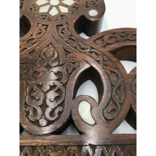 2000 - 2009 Moroccan Wood Decorative Object For Sale - Image 5 of 8