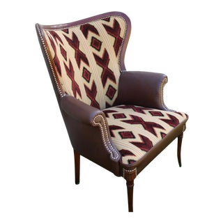 """Antique Refurbished """"Wing Style"""" Chair For Sale"""