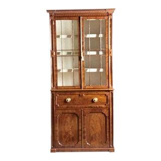 A Regency Inlaid Mahogany Secretary Desk Bookcase