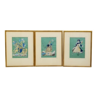 Three Framed Cut Work Prints For Sale
