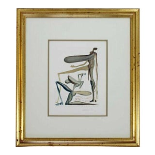 1950s Mid Century Modern Framed Signed Salvador Dali e.a. Drypoint Etching For Sale
