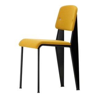 Vitra Standard SR Chair in Canola and Deep Black by Jean Prouvé For Sale