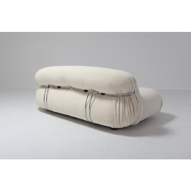 Afra & Tobia Scarpa Soriana Two-Seat Sofa by Afra E Tobia Scarpa for Cassina For Sale - Image 4 of 11
