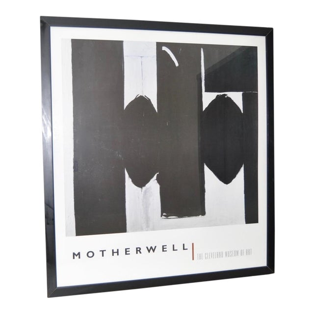 """Monumental Motherwell """"Cleveland Museum of Art"""" Gallery Poster For Sale"""