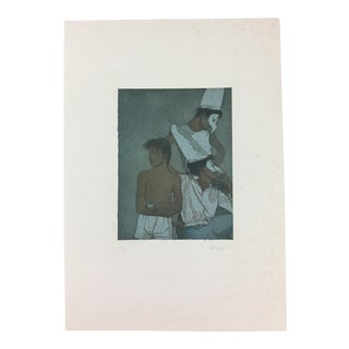 Paolo Baruffaldi Print of 3 Figures With Masks