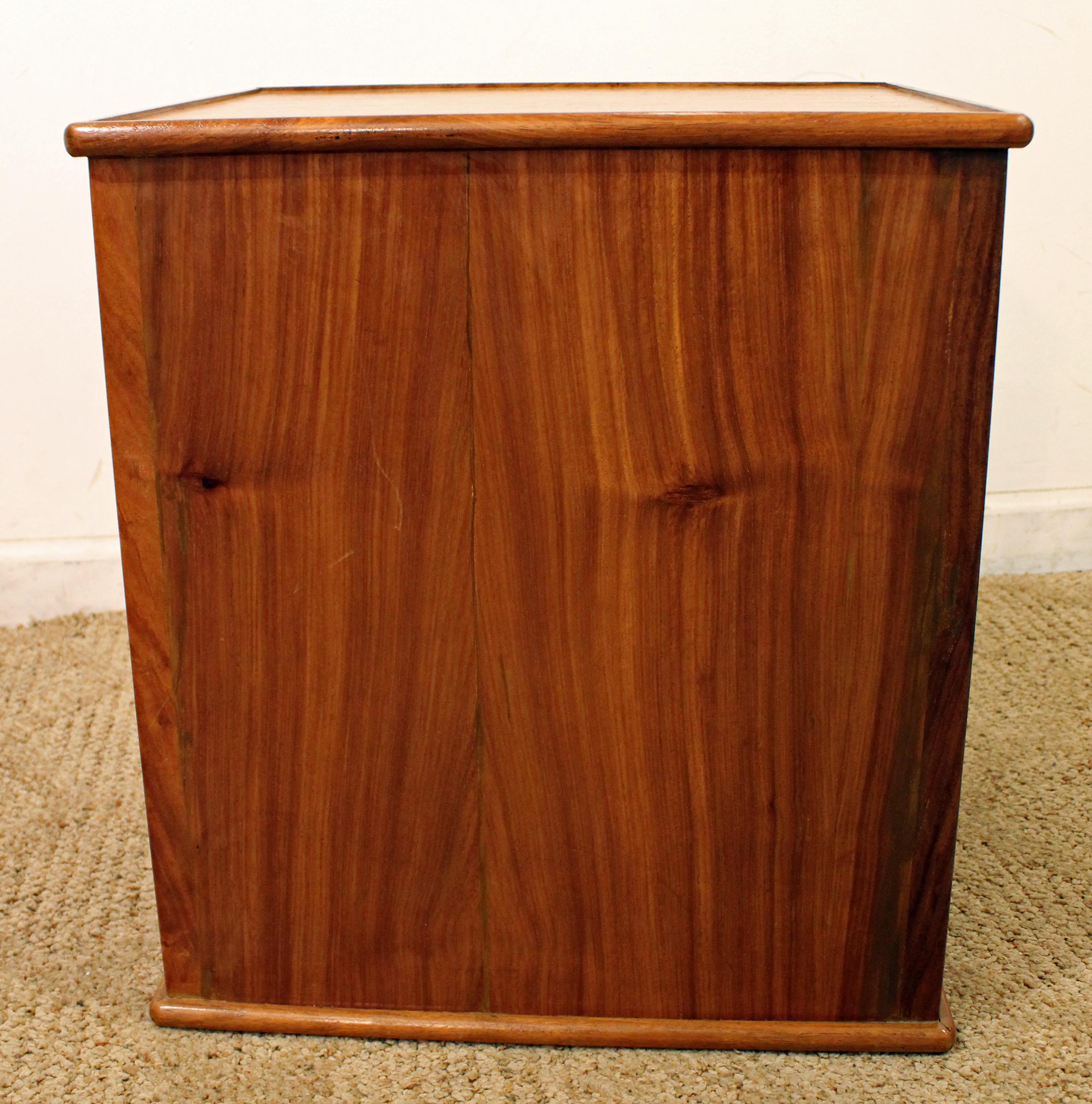 MidCentury Danish Modern Teak Tambour Door Nightstand Dresser