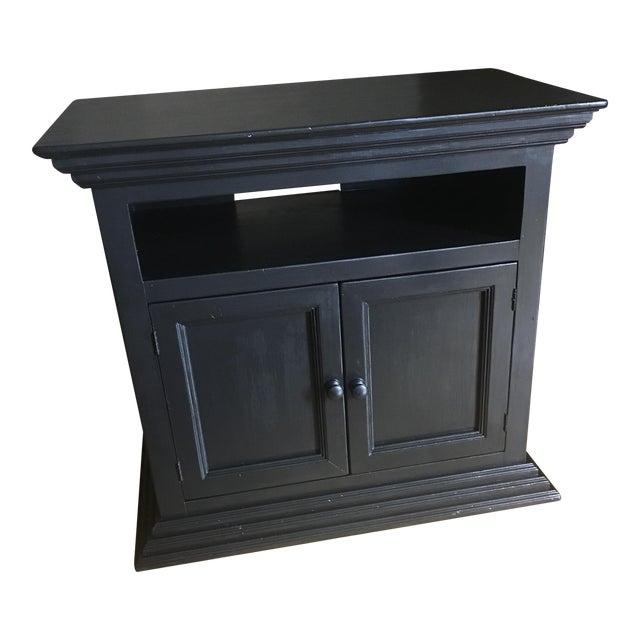 Antique Dark Brown TV Stand - Image 1 of 4