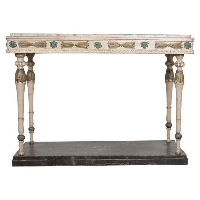 Swedish 19th Century Carved and Painted Console For Sale - Image 12 of 12