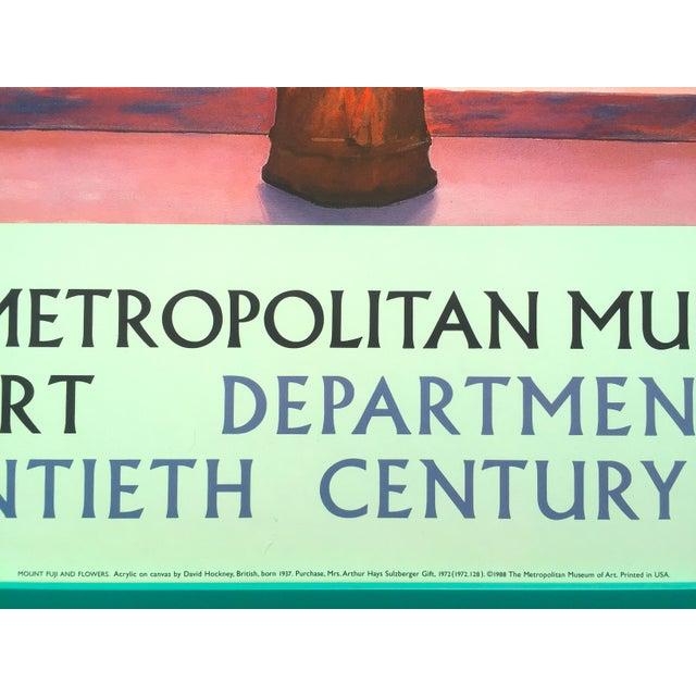 David Hockney Rare Vintage 1988 Lithograph Print Framed Metropolitan Museum  Poster