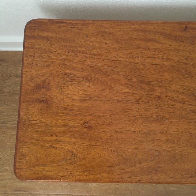 Vintage Koa Wood & Rattan Coffee Table For Sale - Image 10 of 11