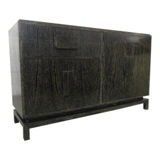 Cerused Oak Sideboard in the Manner of Jean Michel Frank For Sale