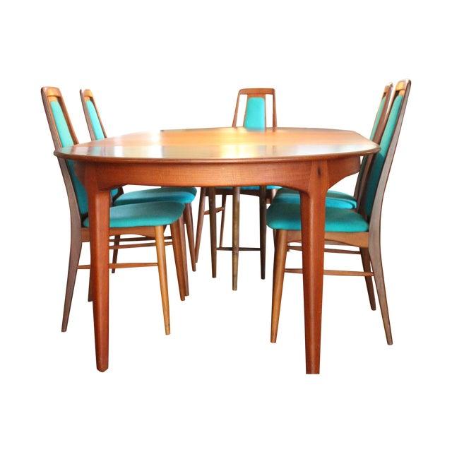 Vintage 1969 Niels Koefoed Wood Dining Set - Image 1 of 9