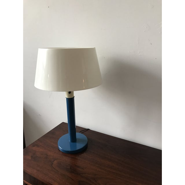 Gerald Thurston Mid-Century Cobalt Table Lamp - Image 7 of 7