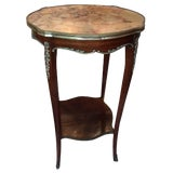Image of Louis XV Style Gilt and Marble-Top Gueridon or Side Table, Early 20th Century For Sale